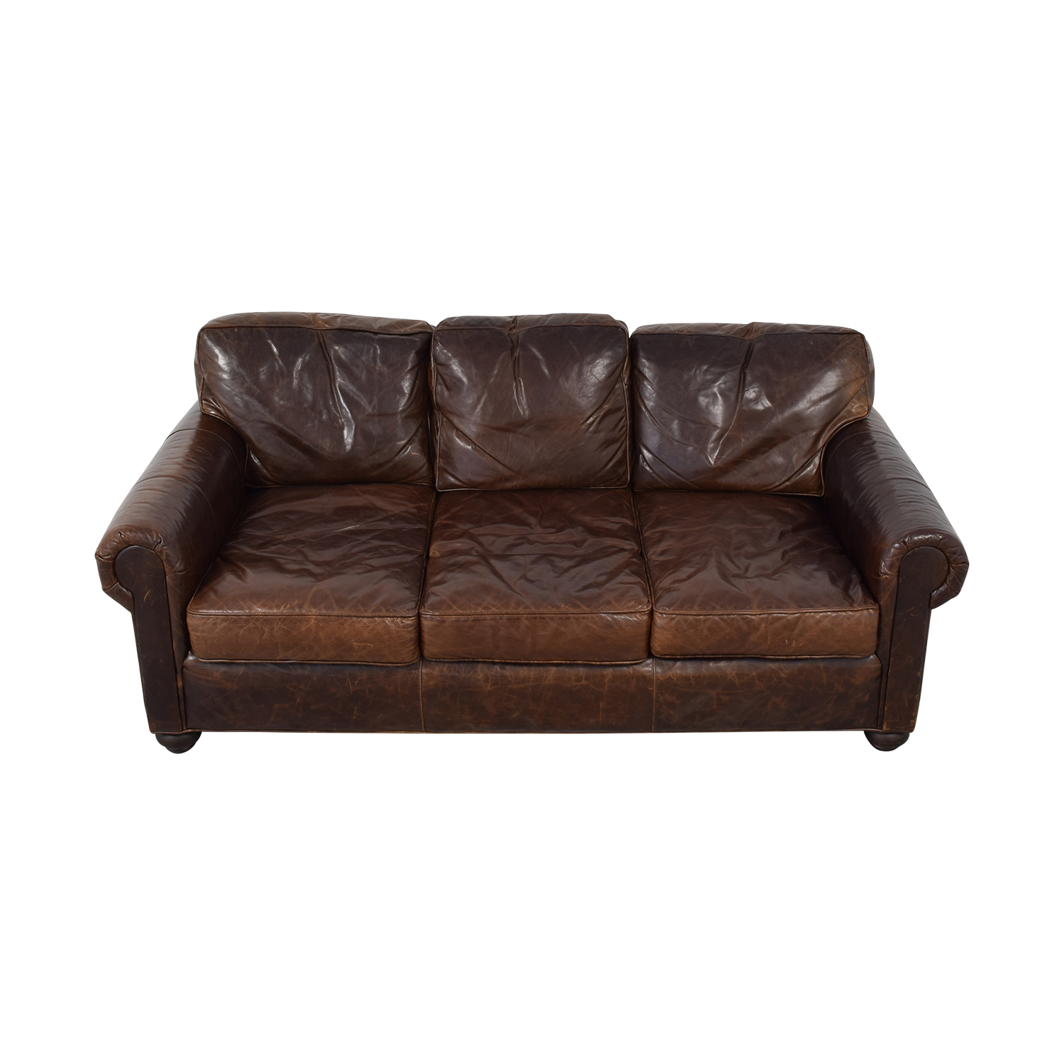 Restoration Hardware Restoration Hardware Lancaster Leather Sofa nj