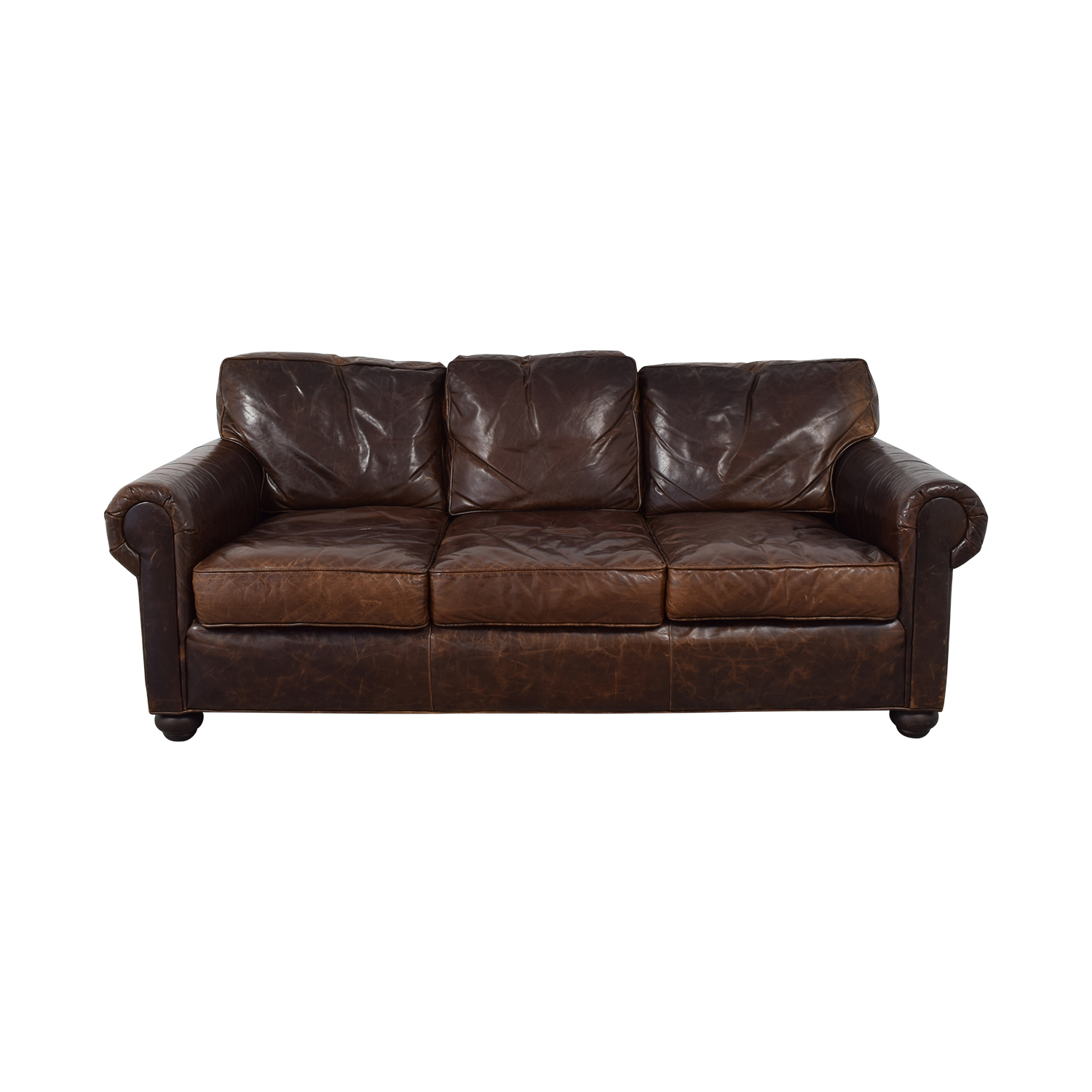 Restoration Hardware Lancaster Leather Sofa Clic Sofas