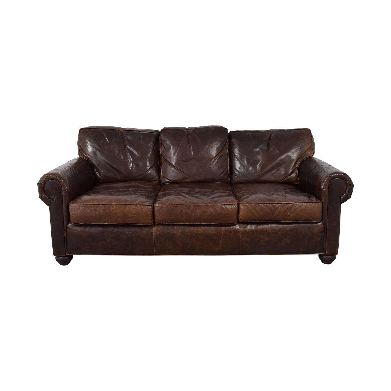 71 Off Restoration Hardware Lancaster Leather Sofa Sofas
