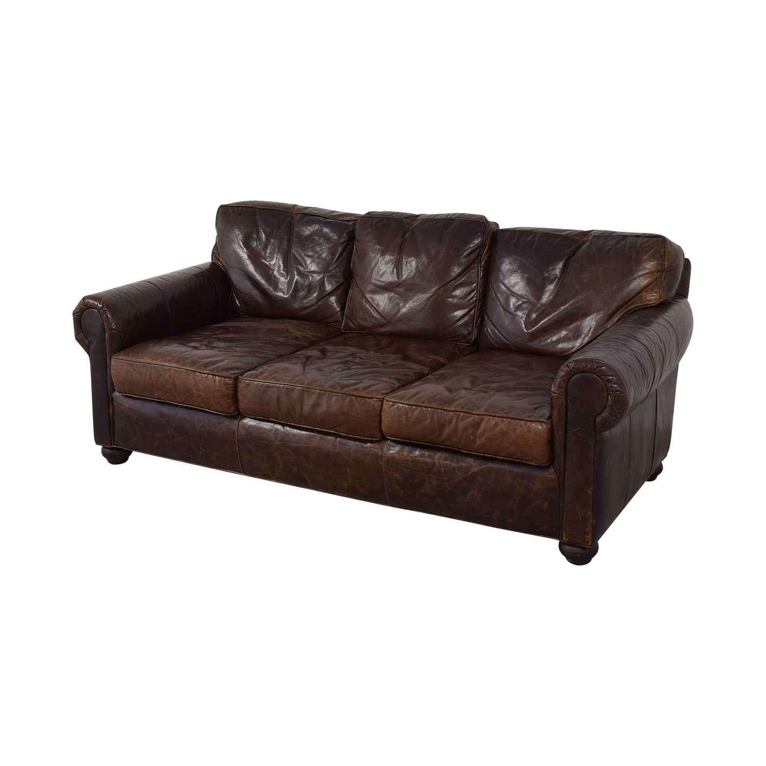71% OFF   Restoration Hardware Restoration Hardware Lancaster Leather Sofa  / Sofas