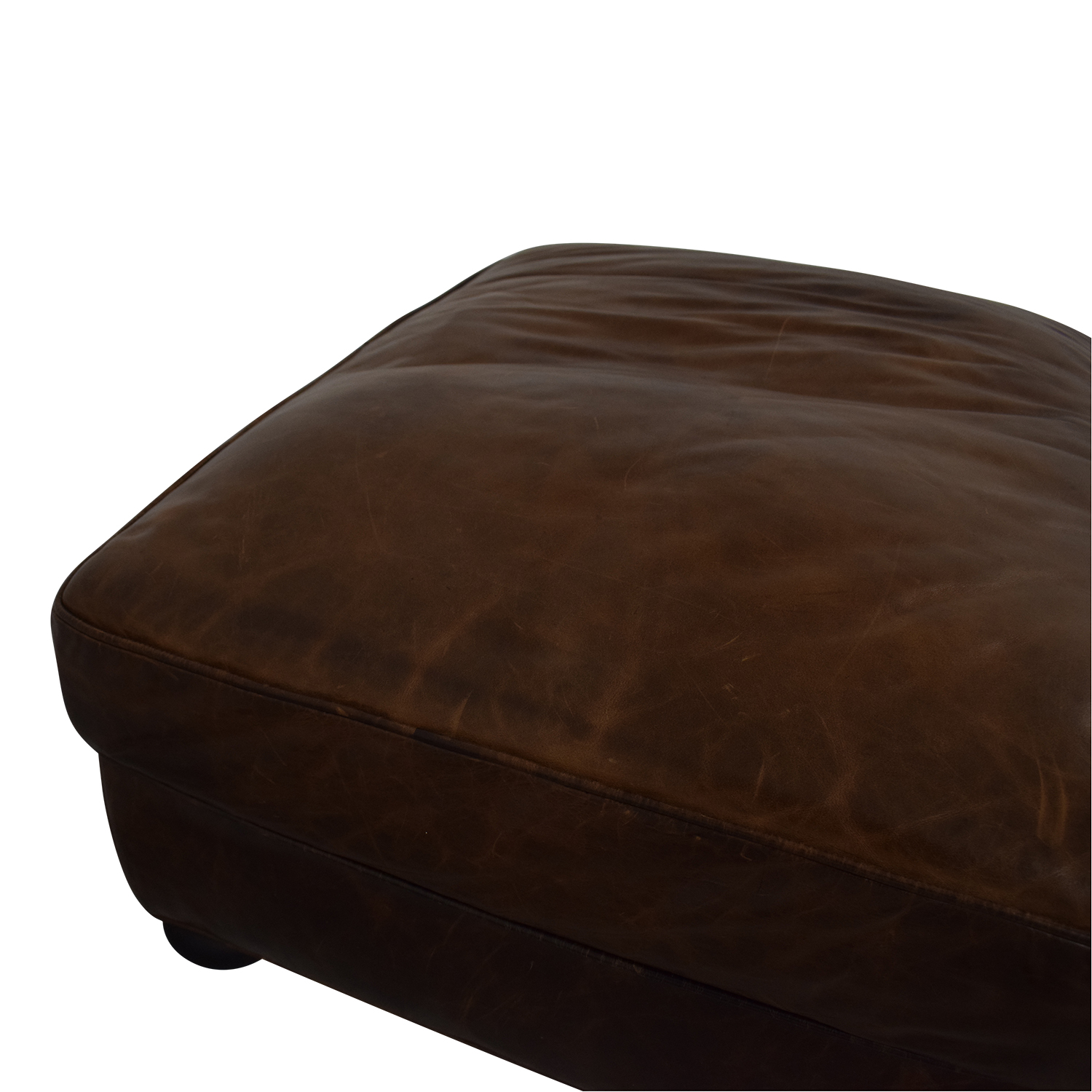 Restoration Hardware Restoration Hardware Lancaster Leather Ottoman nyc