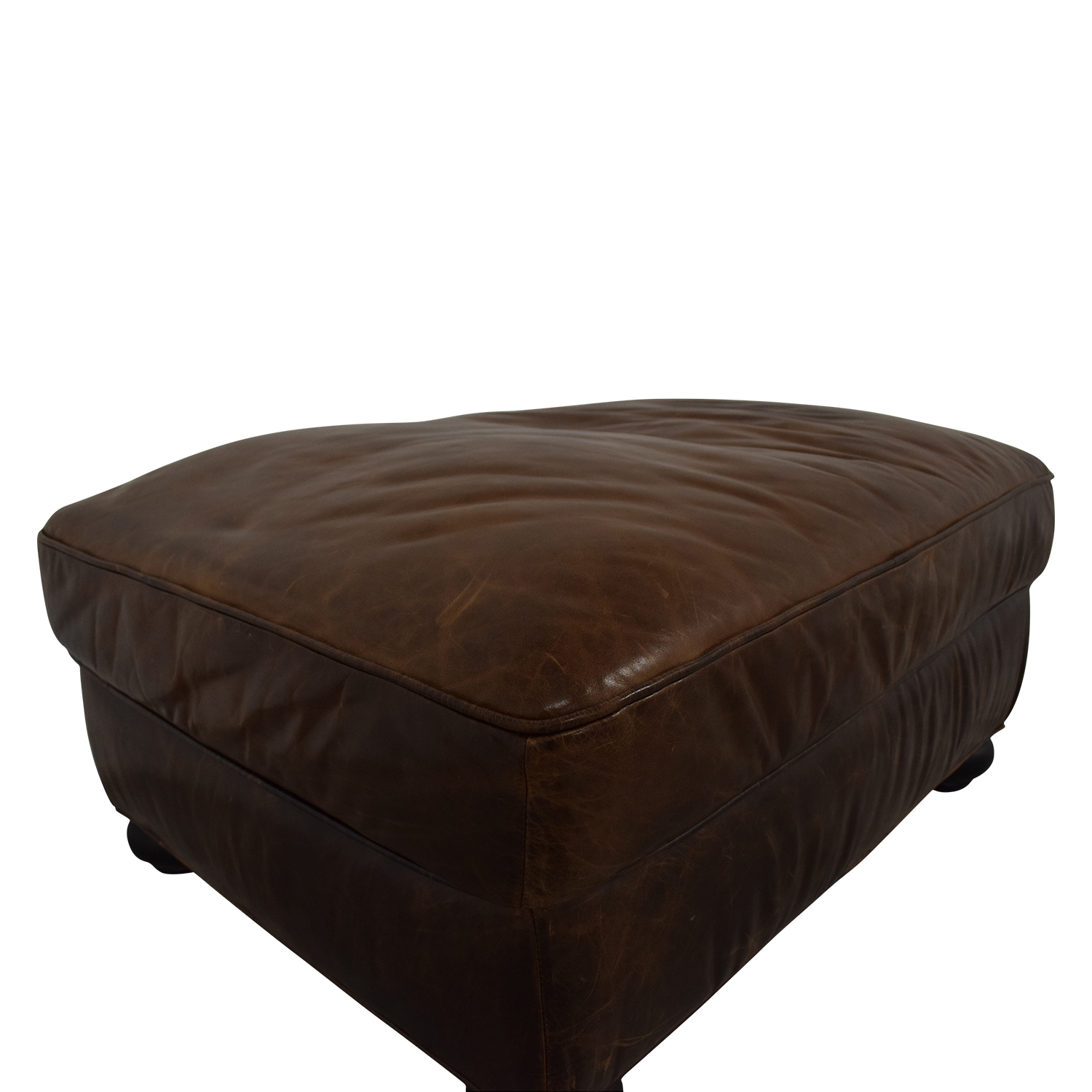 shop Restoration Hardware Restoration Hardware Lancaster Leather Ottoman online