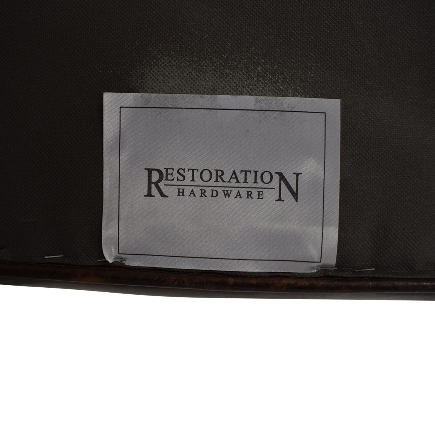Restoration Hardware Restoration Hardware Lancaster Leather Ottoman discount