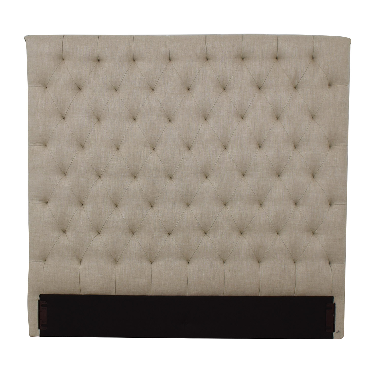 buy Restoration Hardware Chesterfield Fabric Panel Headboard Restoration Hardware