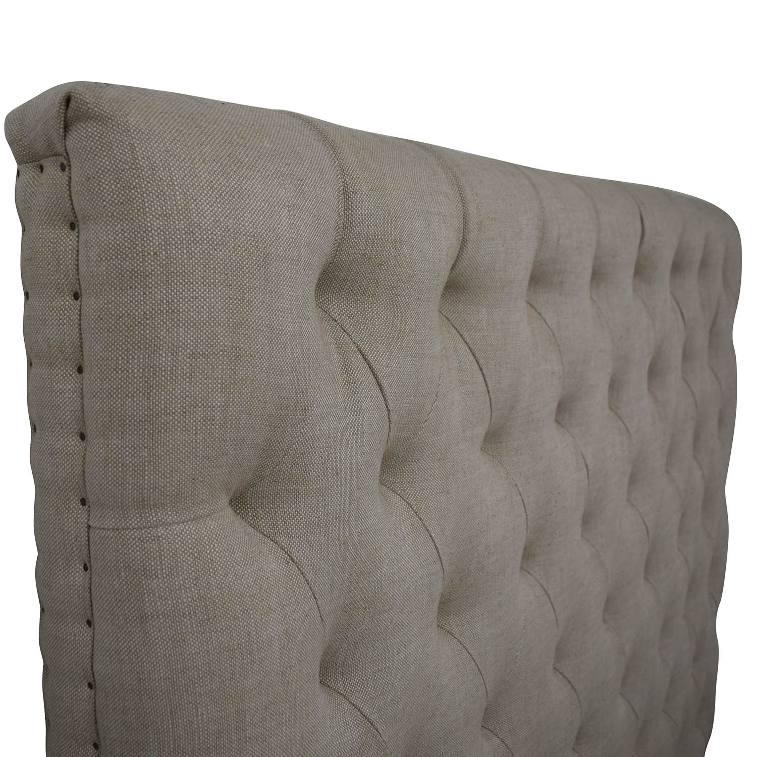 Restoration Hardware Restoration Hardware Chesterfield Fabric Panel Headboard dimensions