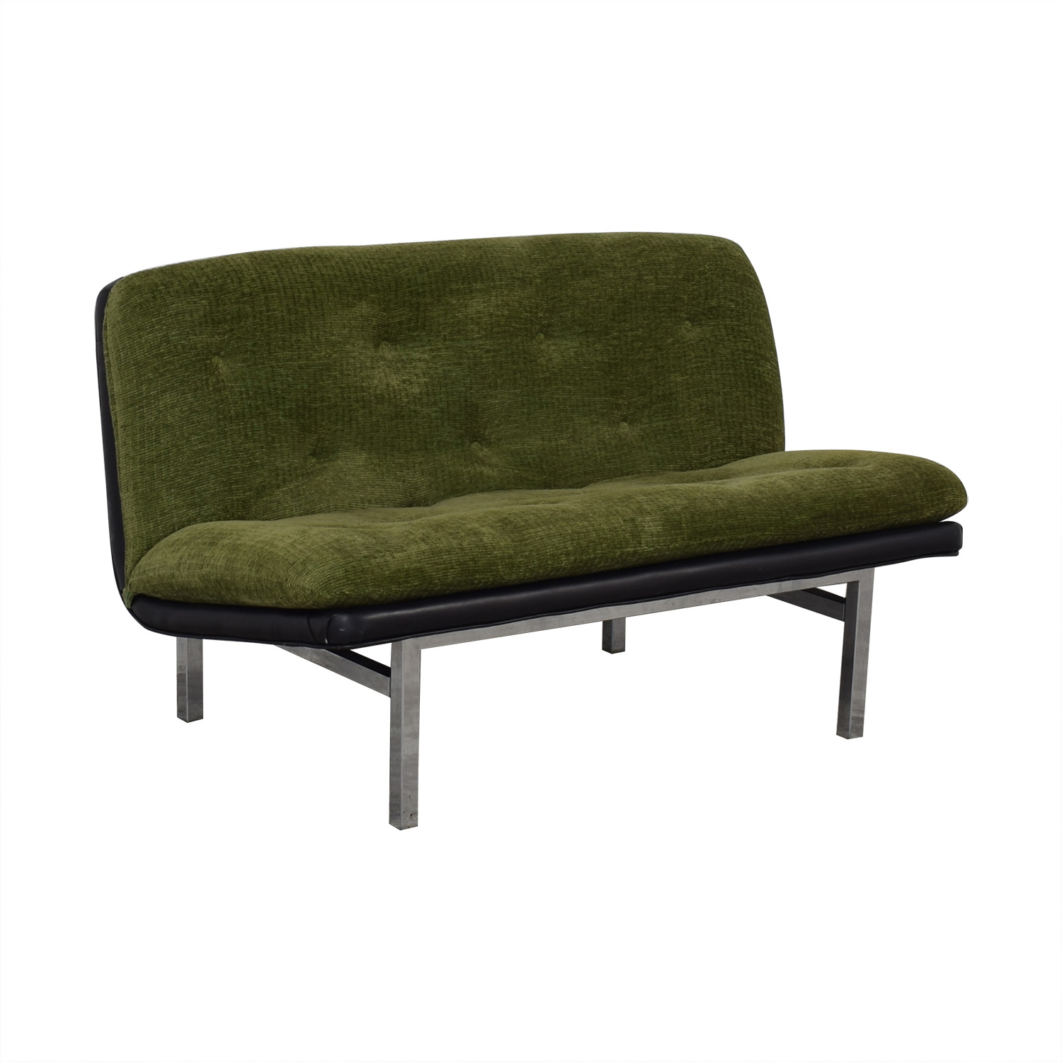 Tufted Modernist Loveseat nyc