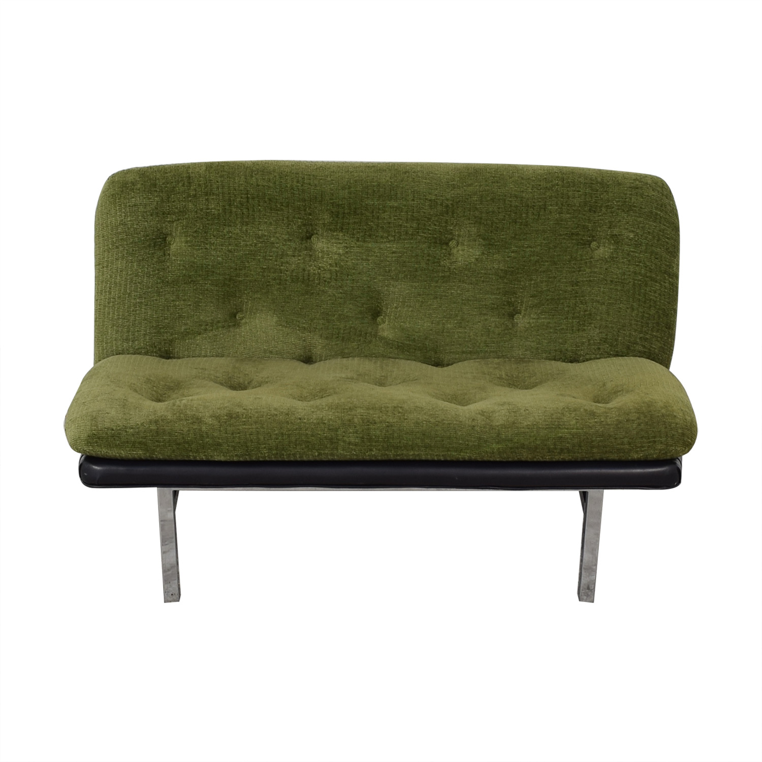Tufted Modernist Loveseat / Sofas