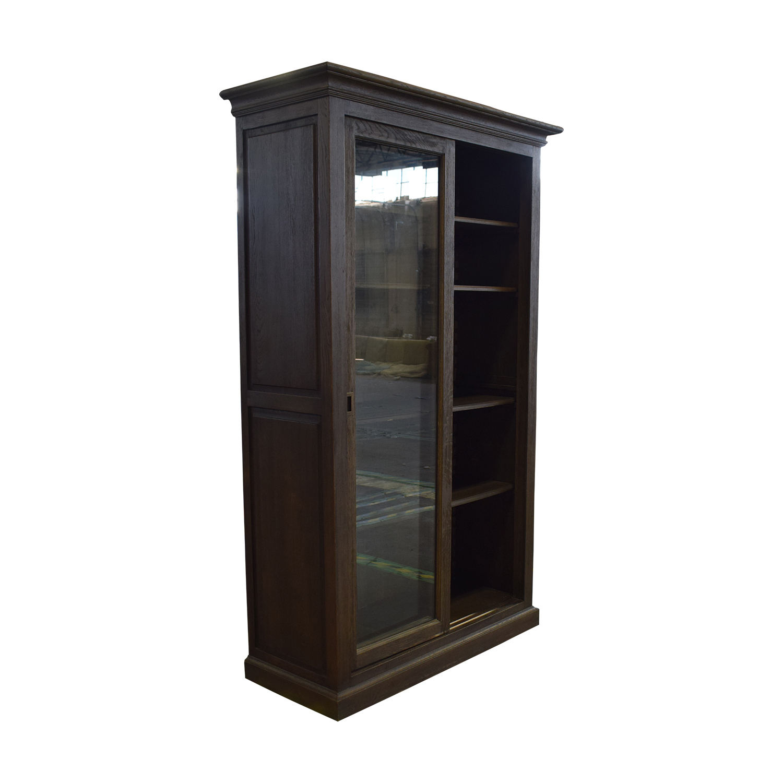 shop Restoration Hardware Restoration Hardware 20th C. English Brass Bar Slider Glass Double-Door Cabinet online