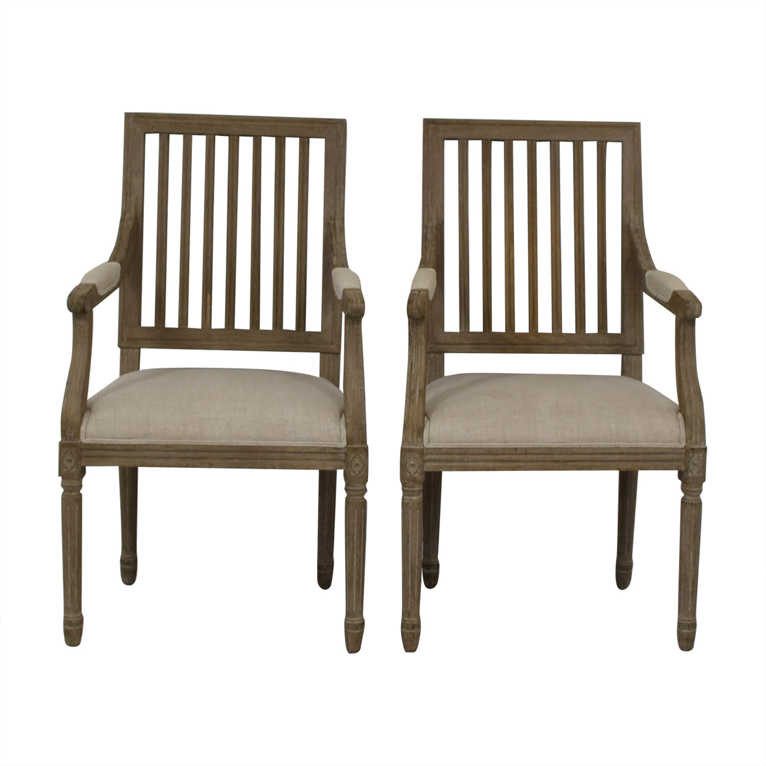 Restoration Hardware Restoration Hardware Spindle Back Dining Chairs for sale