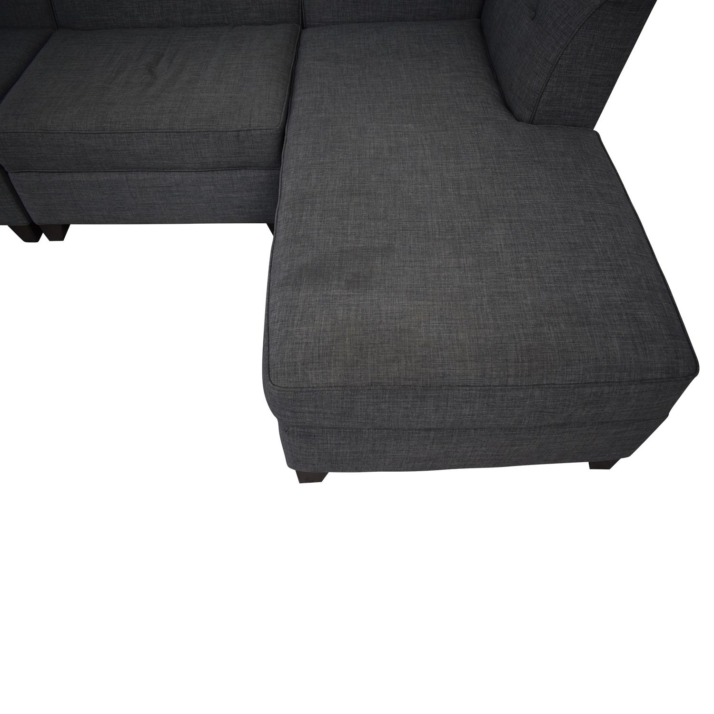Macy's Macy's Three-Piece Chaise Sectional Sofa price