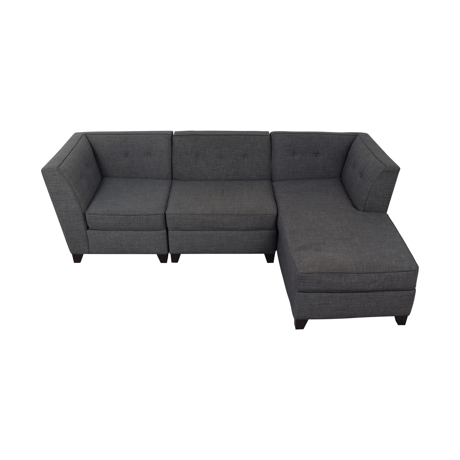 shop Macy's Macy's Three-Piece Chaise Sectional Sofa online
