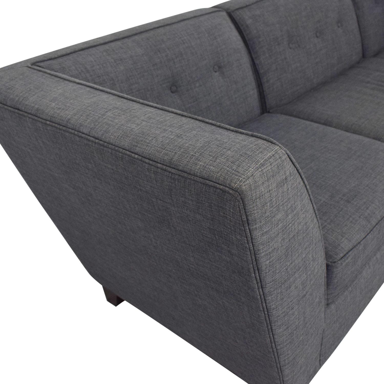 Macy's Macy's Three-Piece Chaise Sectional Sofa Sofas