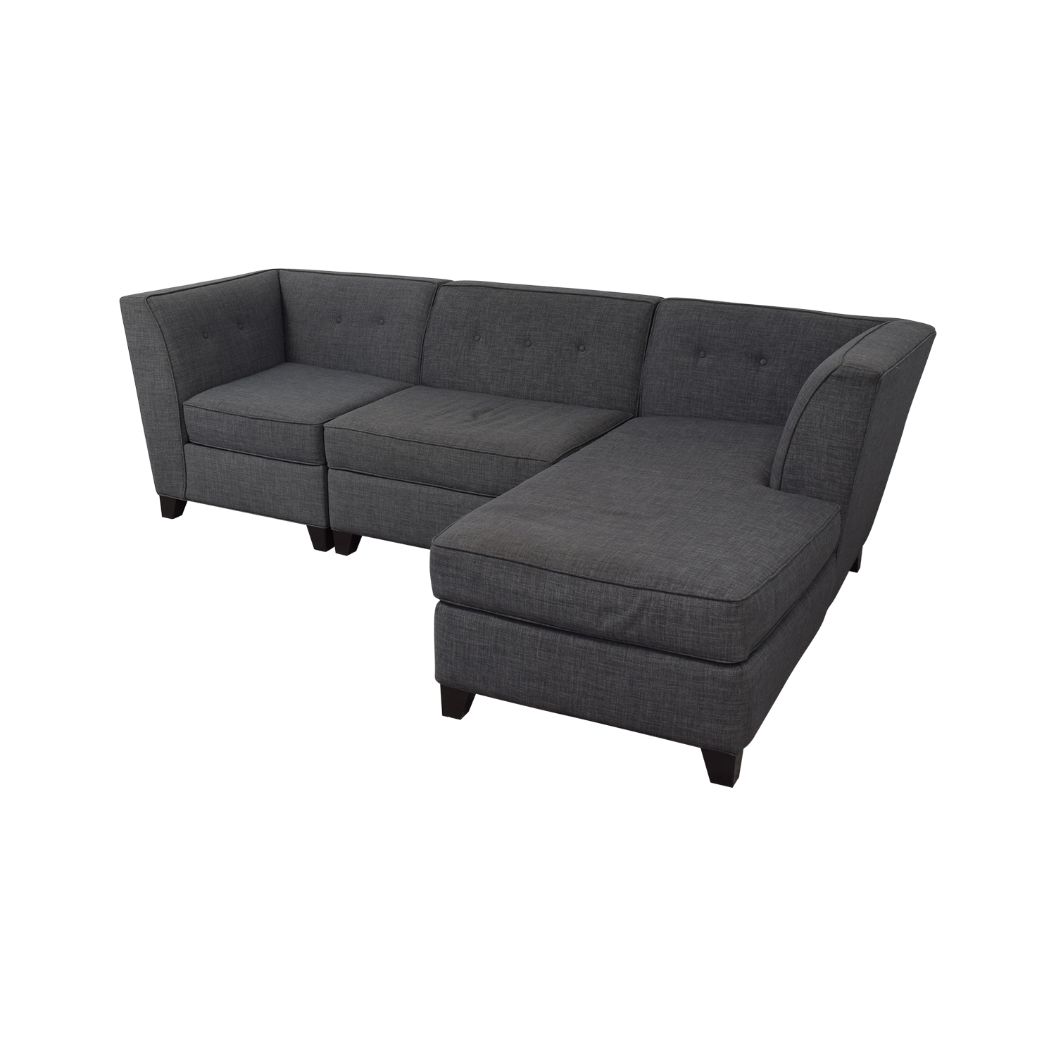Macy's Macy's Three-Piece Chaise Sectional Sofa dimensions