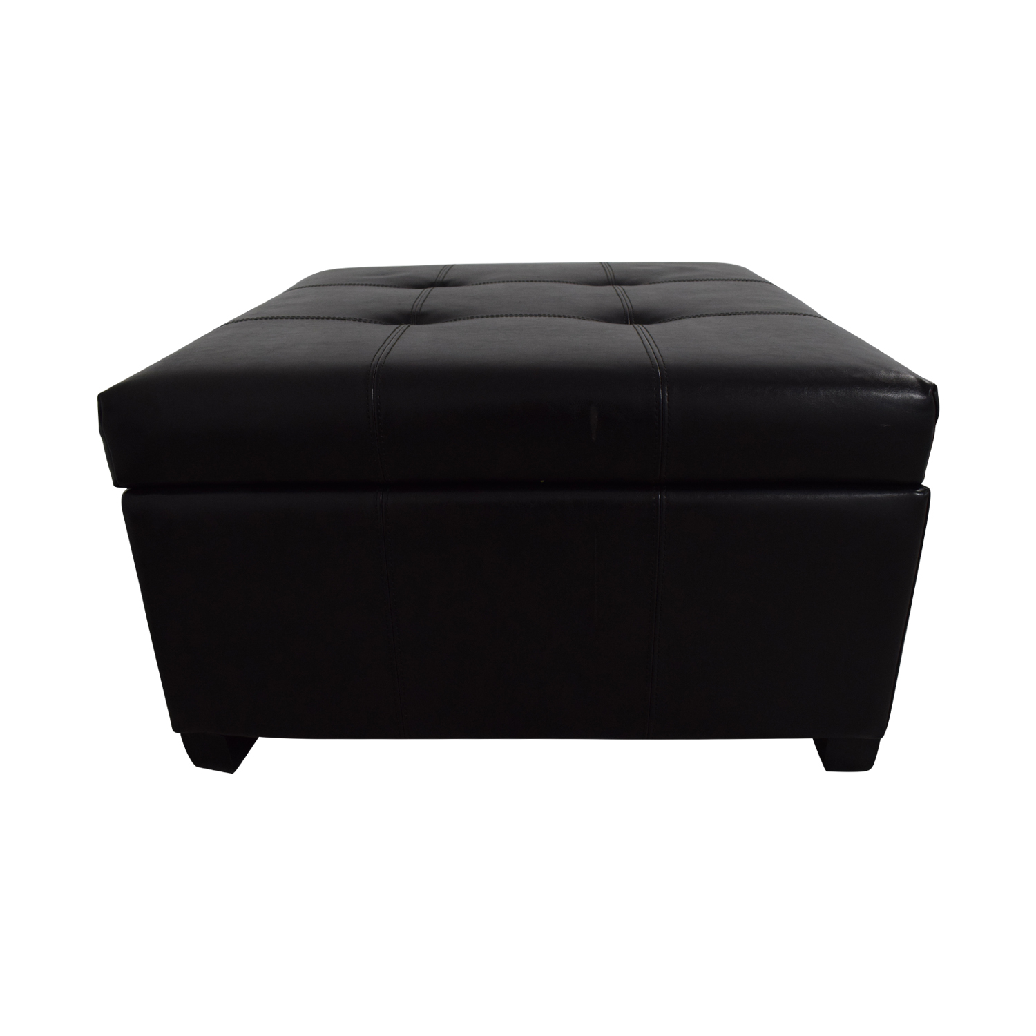 Tufted Storage Ottoman for sale