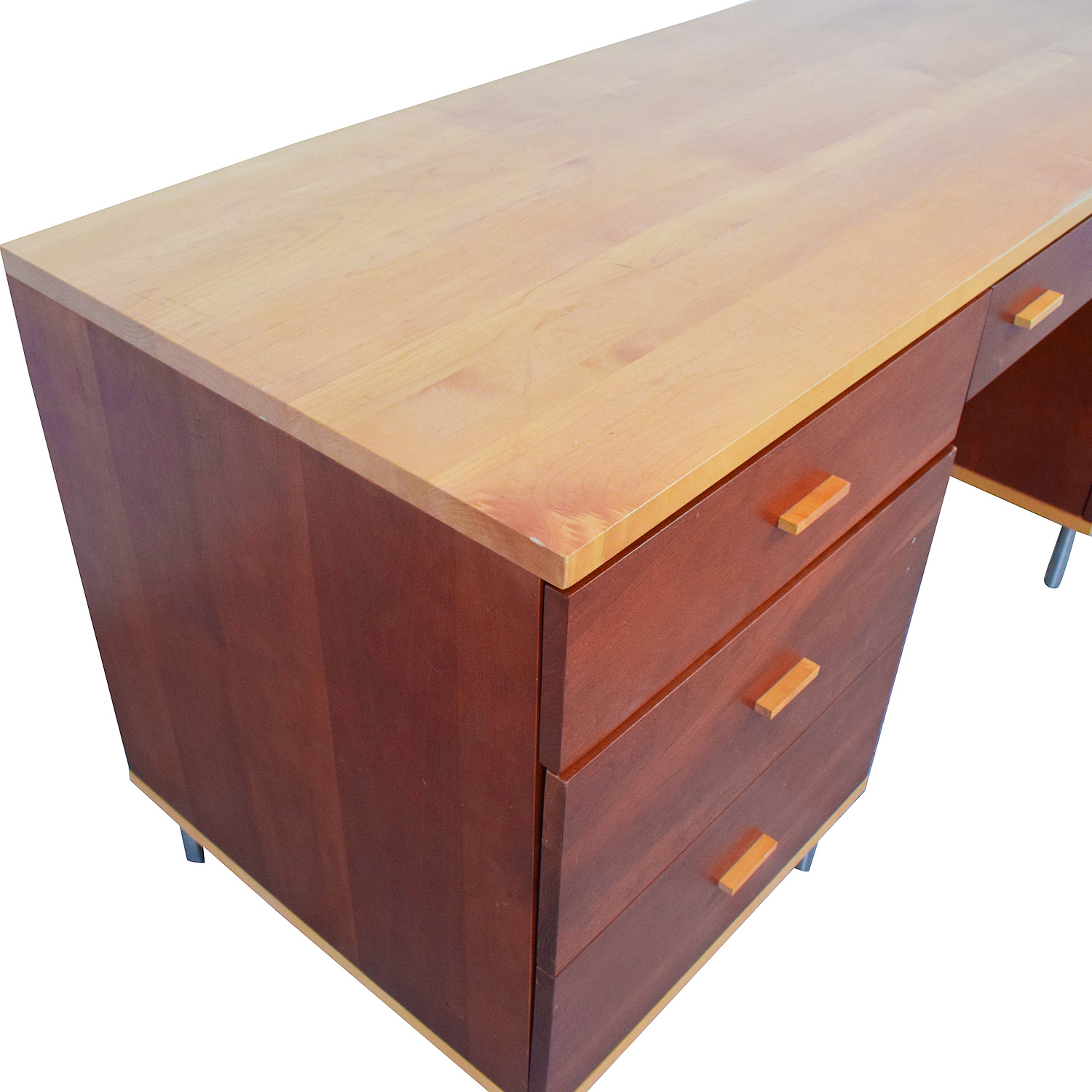 Cherrywood and Maple Desk used