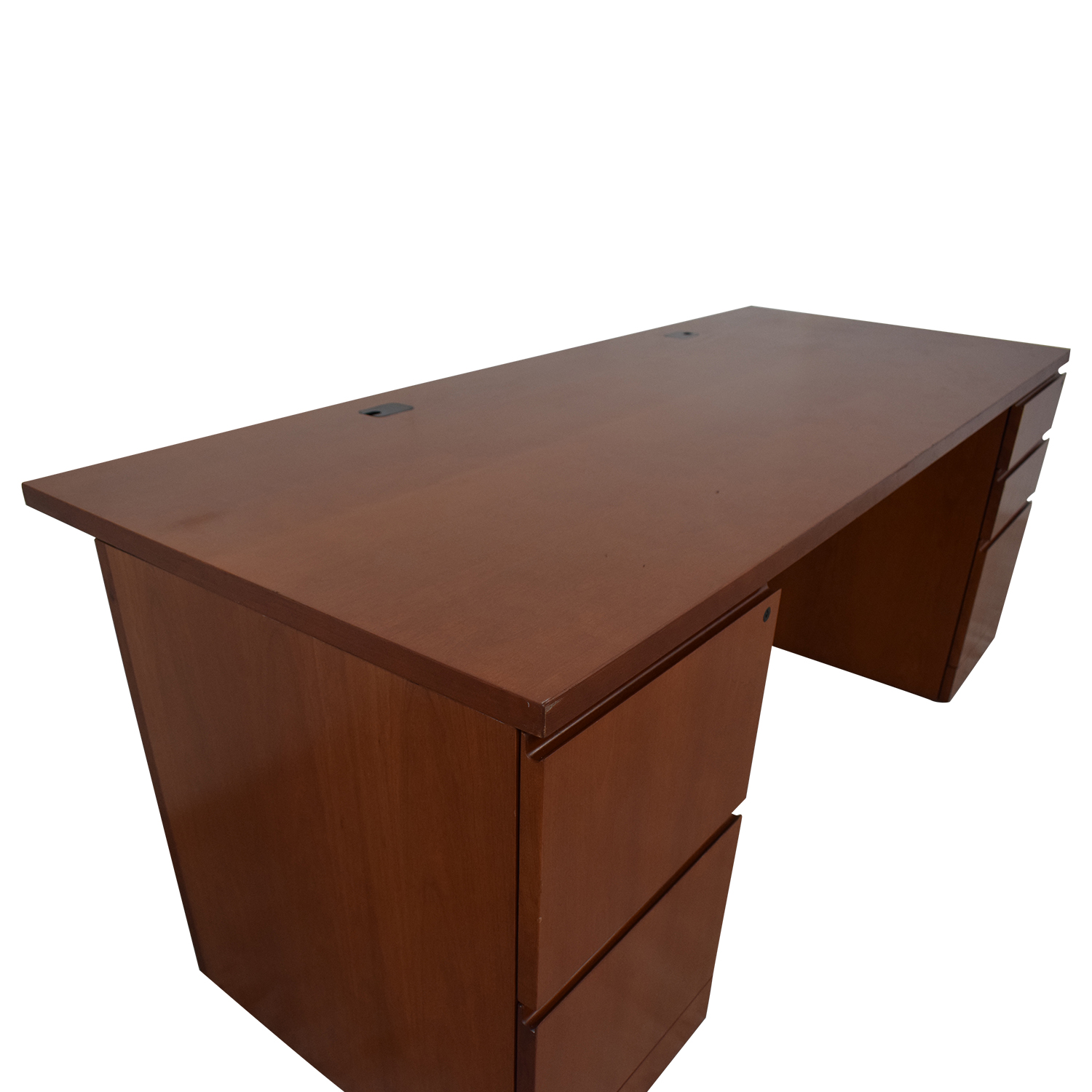 shop Knoll Reff Work Desk with Filling Drawers Knoll Tables