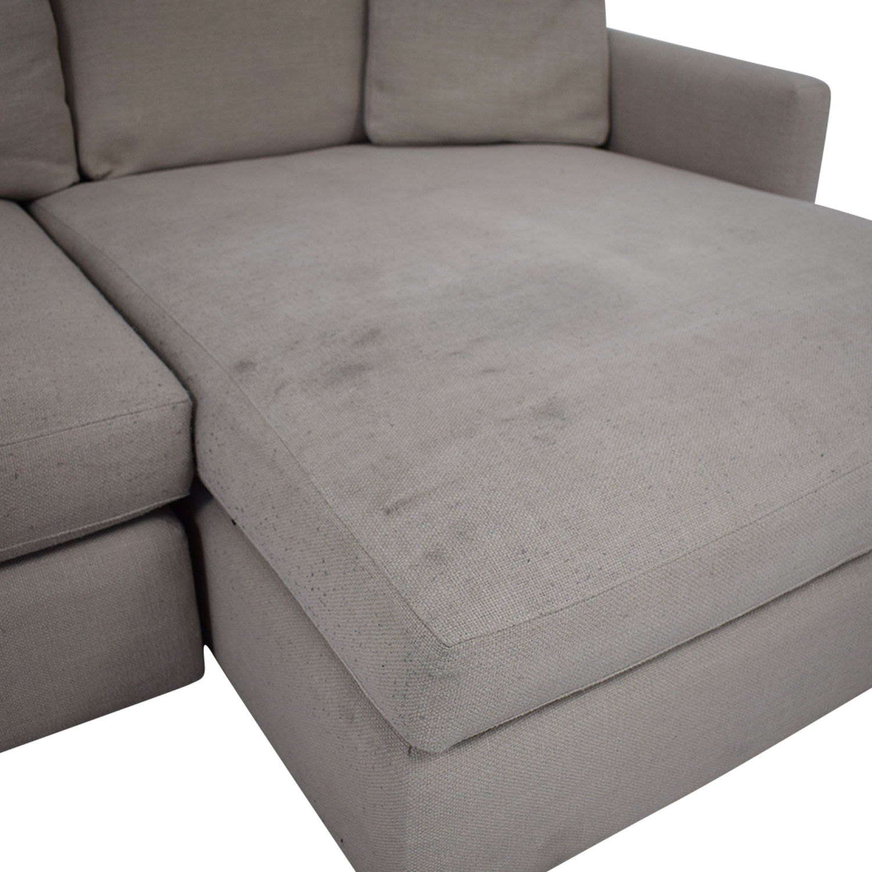 shop Crate & Barrel Sectional Sofa Crate & Barrel Sectionals