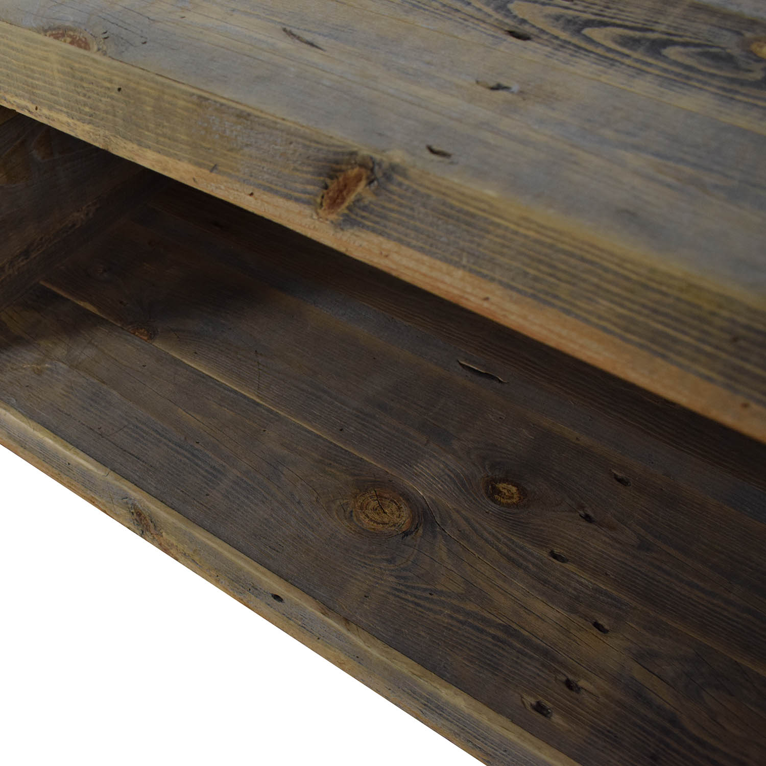 Reclaimed Wood Media Console Storage