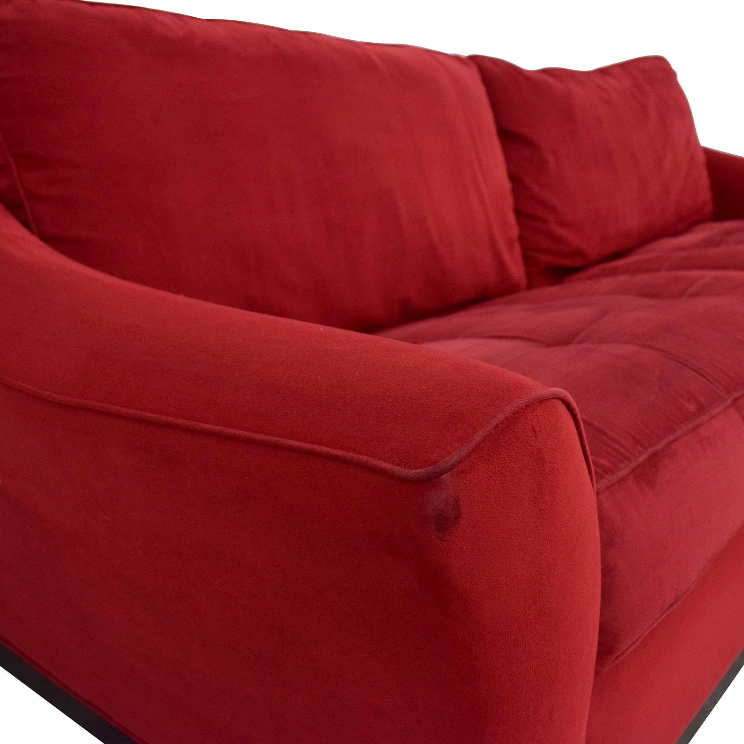 Raymour & Flanigan Raymour & Flanigan Red Sleeper Sofa for sale