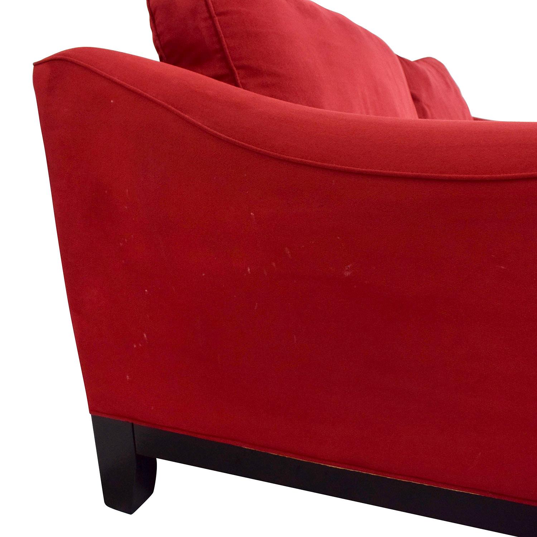 72% OFF - Raymour & Flanigan Raymour & Flanigan Red Sleeper Sofa / Sofas