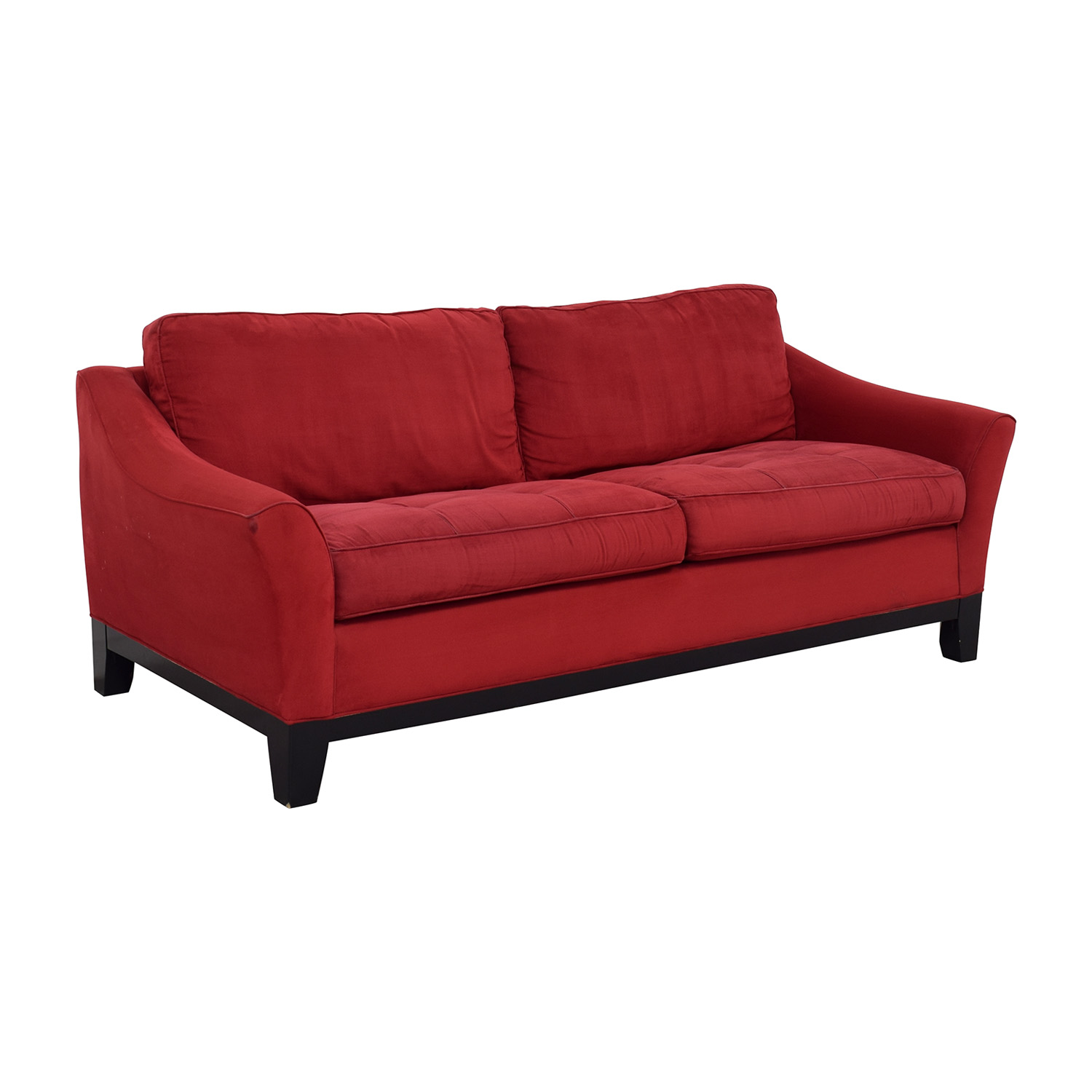 shop Raymour & Flanigan Red Sleeper Sofa Raymour & Flanigan