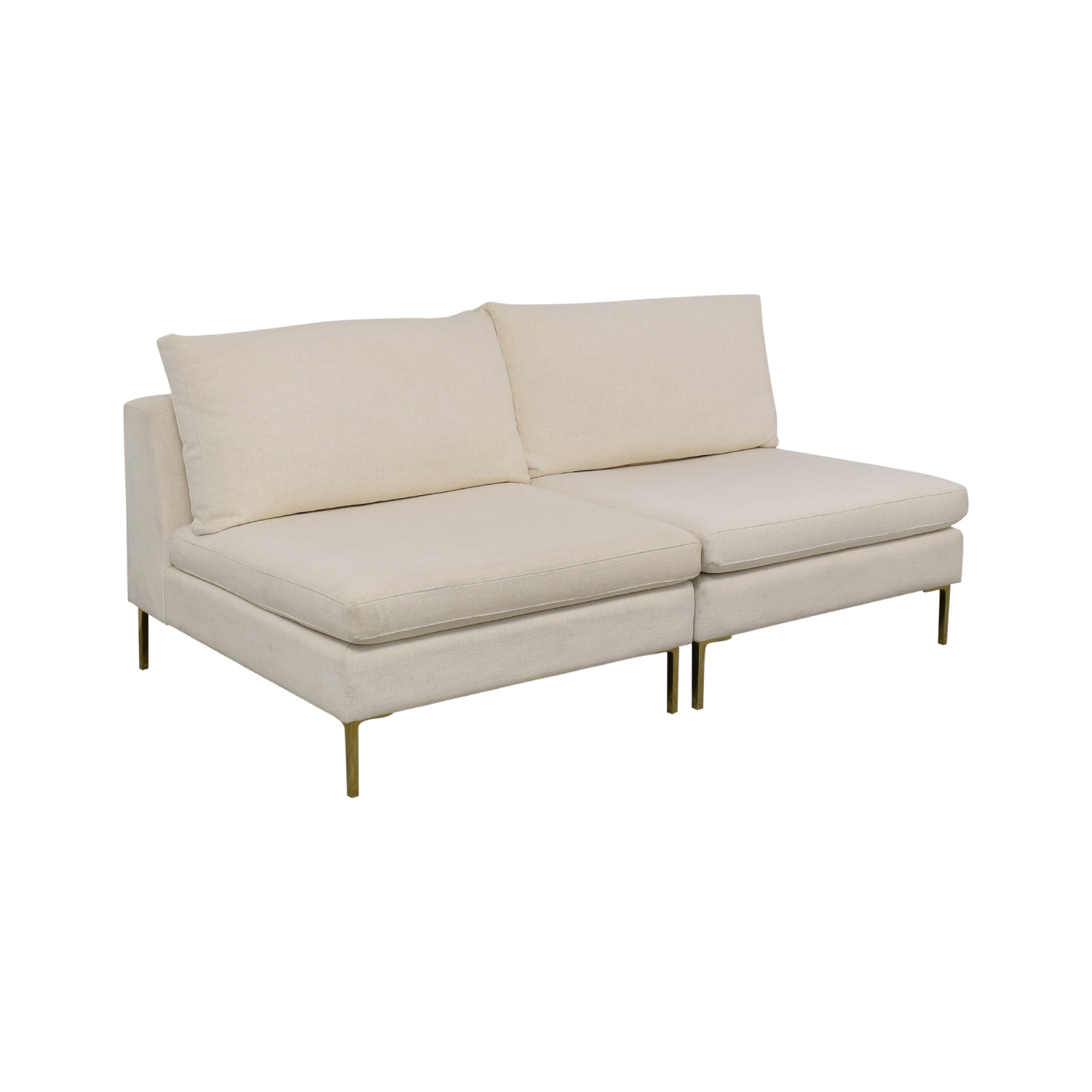 Anthropologie Anthropologie Armless Sofa Chairs