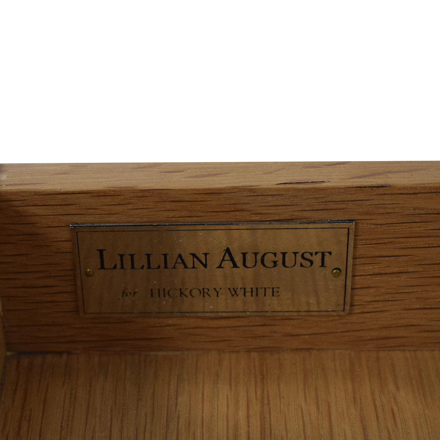 shop Lillian August For Hickory White Conner Grey Nightstand Lillian August End Tables