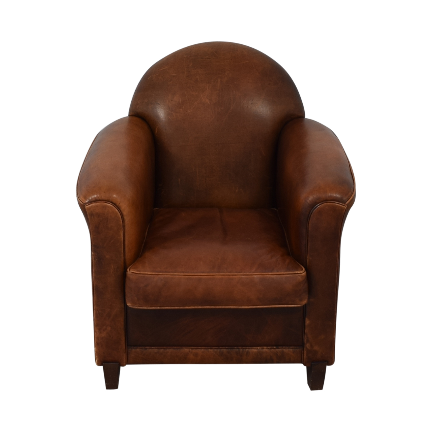 French Leather Club Chair used