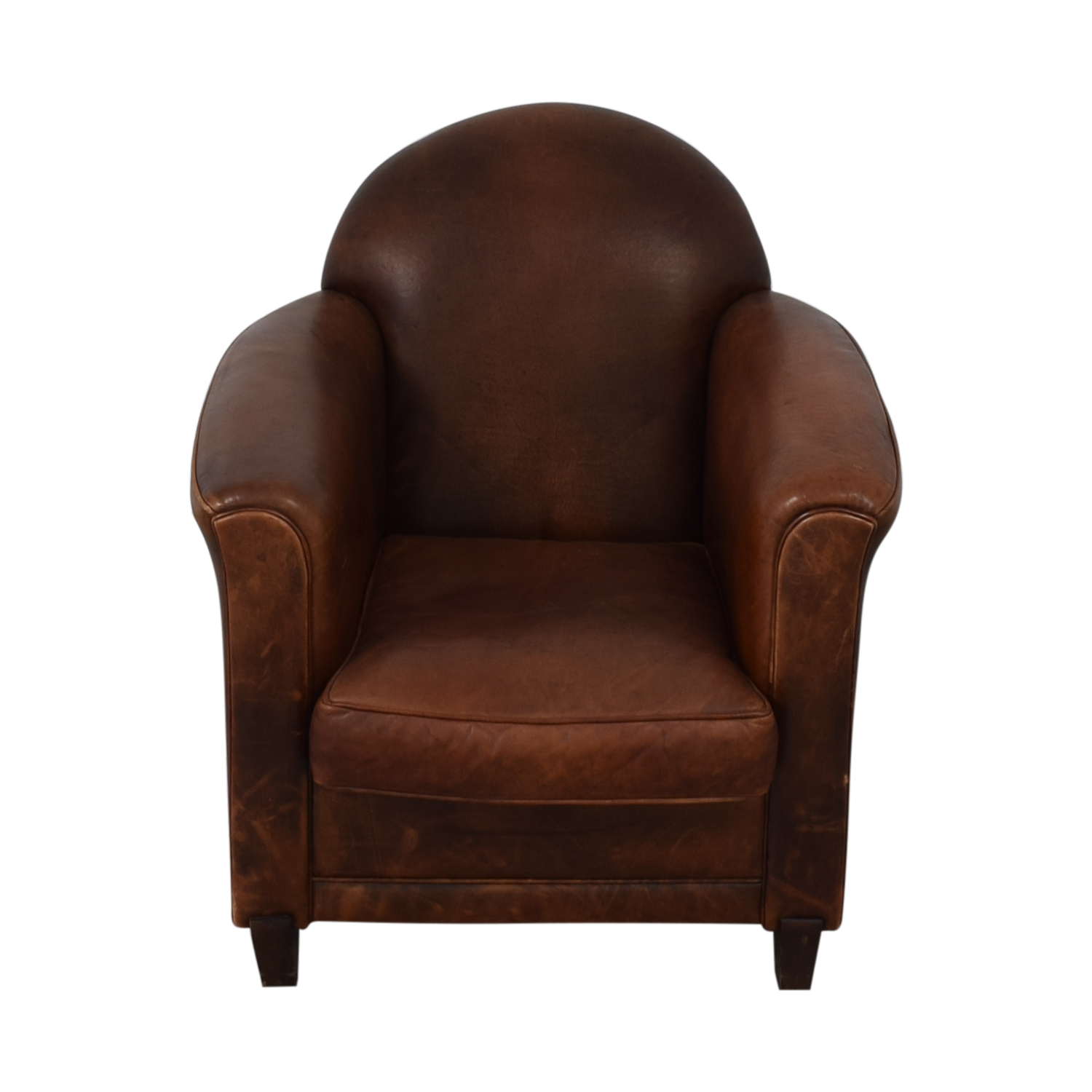 French Leather Club Chair / Chairs