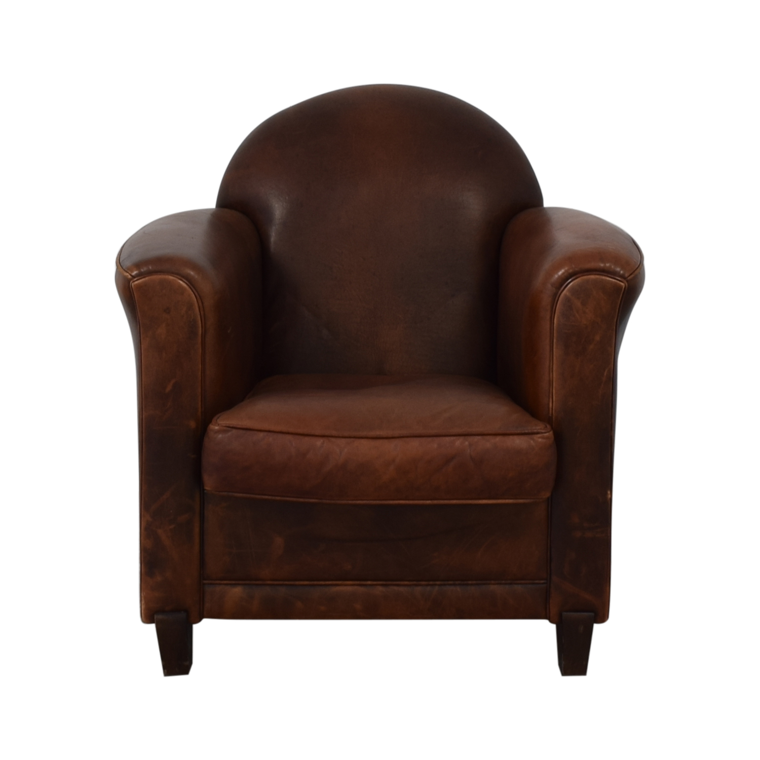 French Leather Club Chair brown