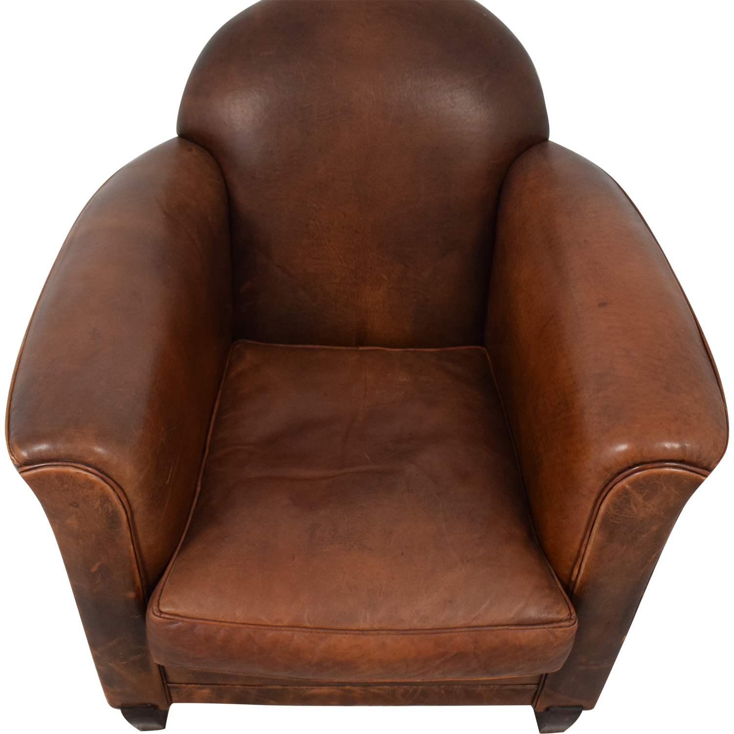 shop French Leather Club Chair  Chairs