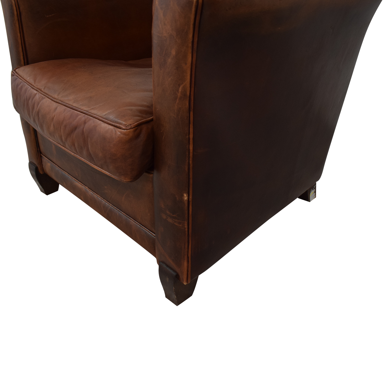 French Leather Club Chair / Accent Chairs