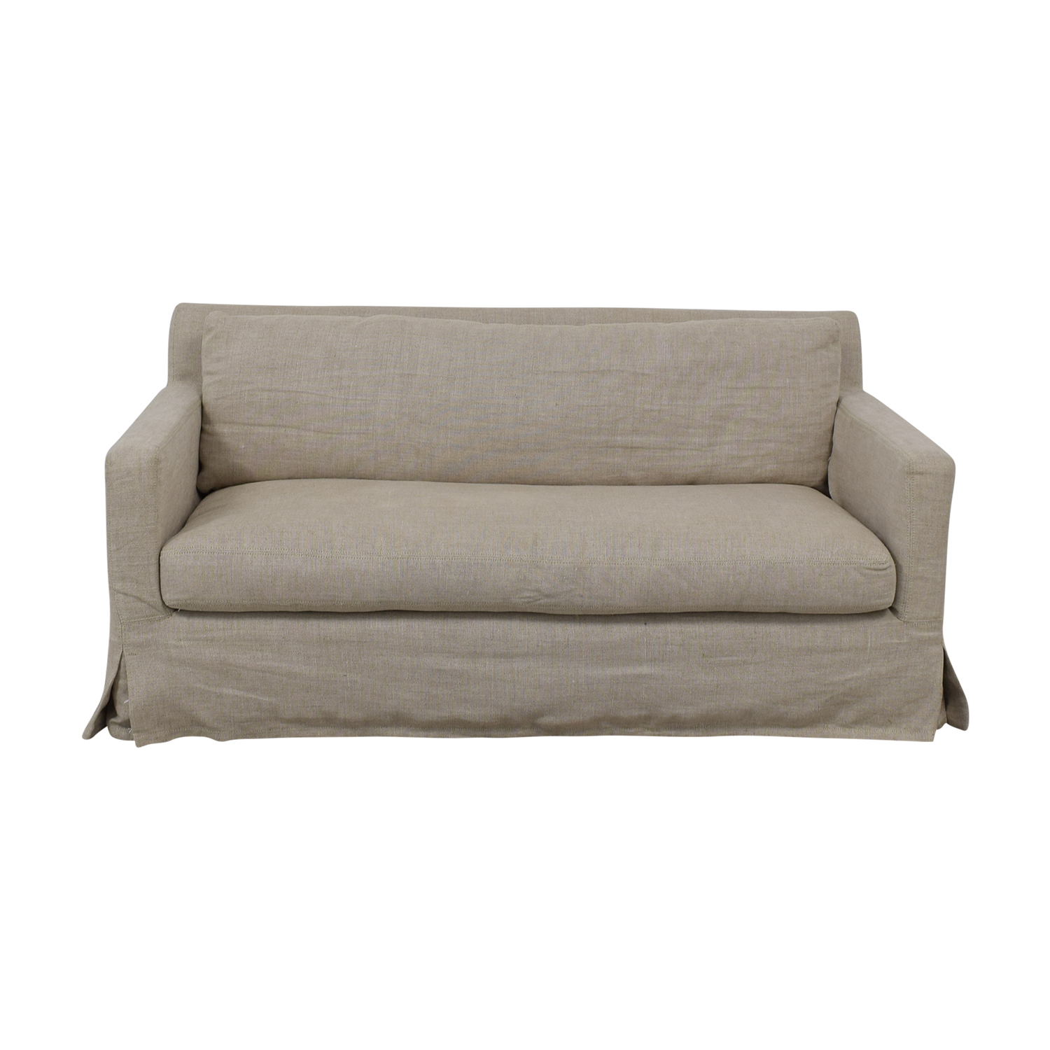 buy Restoration Hardware Petite Belgian Track Arm Slipcovered Sofa Restoration Hardware