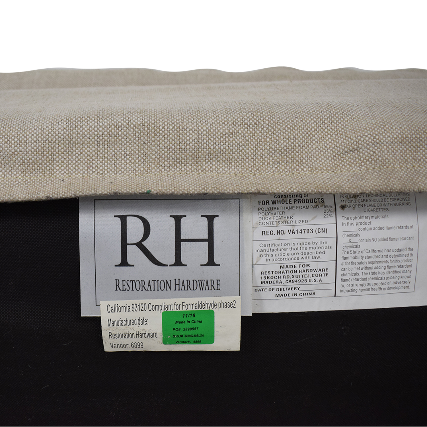 Restoration Hardware Restoration Hardware Petite Belgian Track Arm Slipcovered Sofa coupon