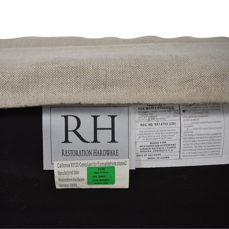 Restoration Hardware Restoration Hardware Petite Belgian Track Arm Slipcovered Sofa coupon