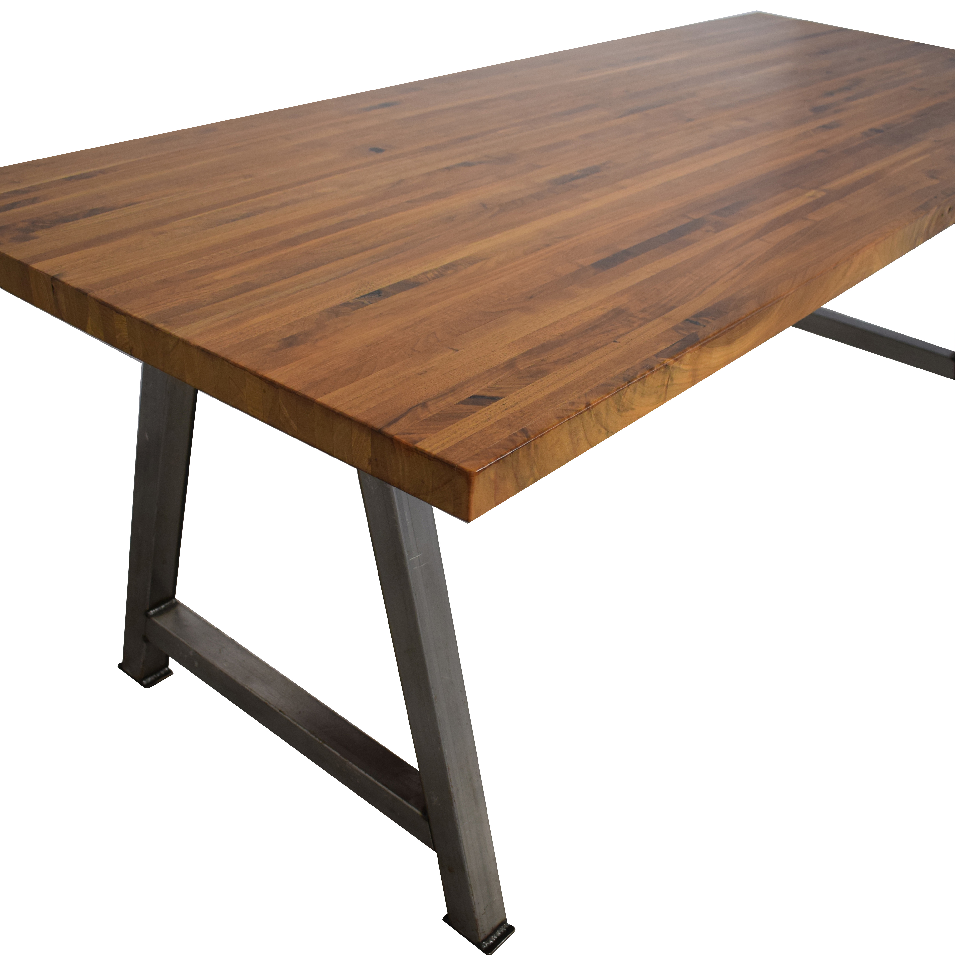 Custom Butcher Block Table on sale