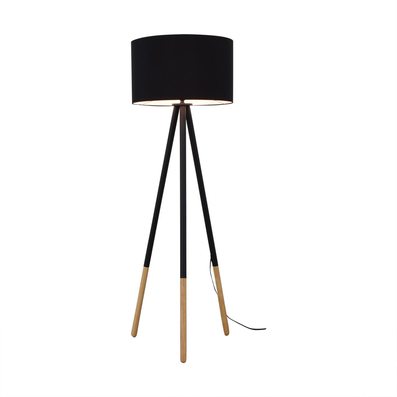 AllModern AllModern Louise Tripod Floor Lamp Black