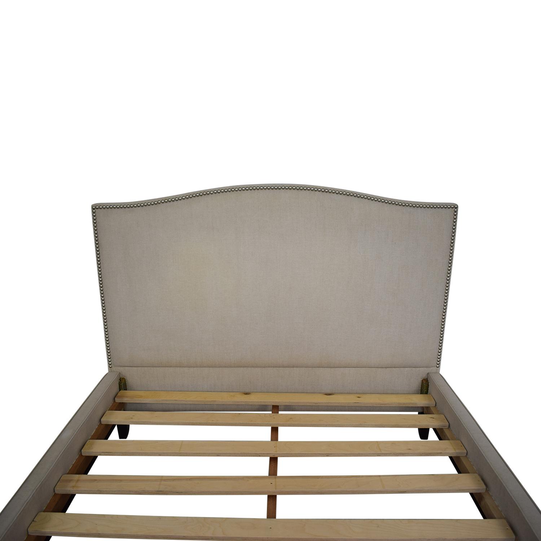 Crate & Barrel Crate & Barrel Colette Queen Upholstered Bed for sale
