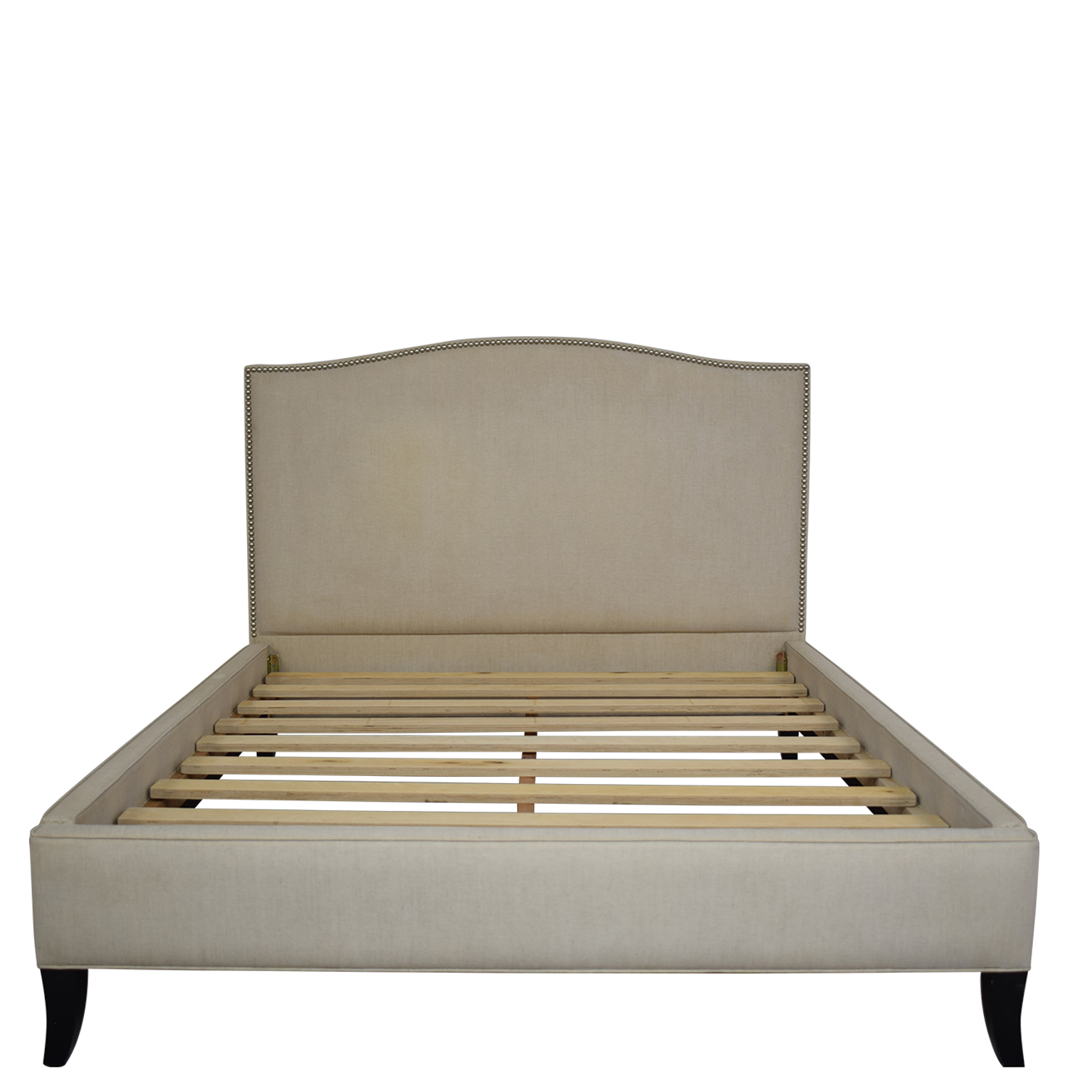 shop Crate & Barrel Colette Queen Upholstered Bed Crate & Barrel Beds