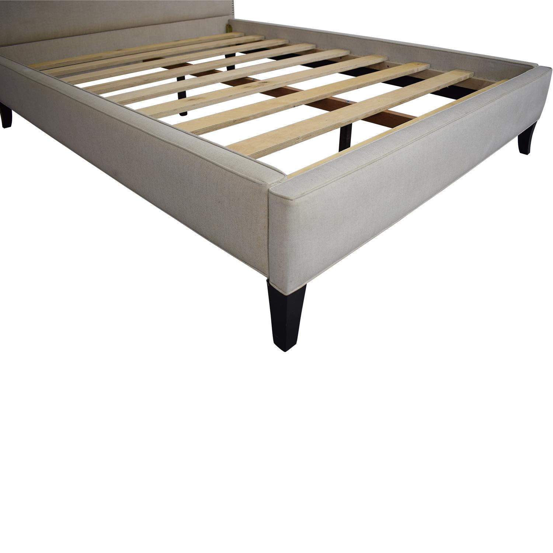shop Crate & Barrel Colette Queen Upholstered Bed Crate & Barrel Beds