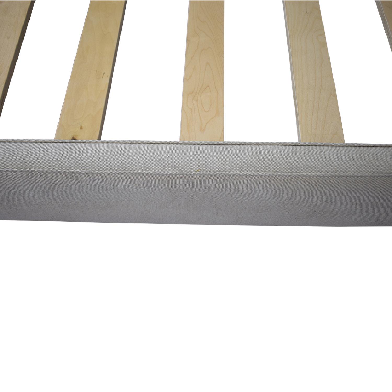 shop Crate & Barrel Colette Queen Upholstered Bed Crate & Barrel