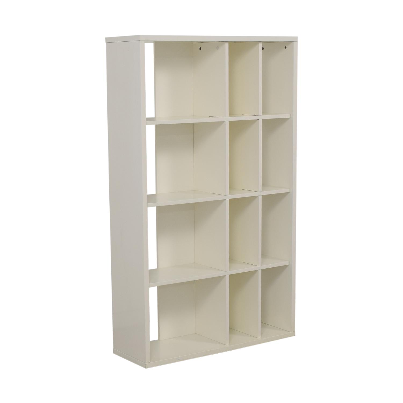 buy CB2 White Bookcase CB2 Bookcases & Shelving