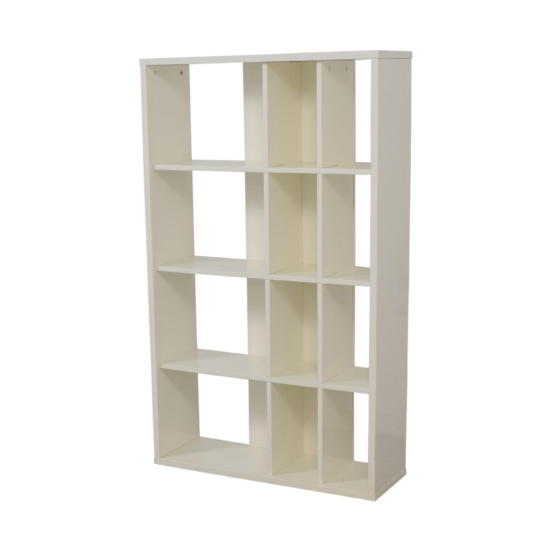 shop CB2 White Bookcase CB2