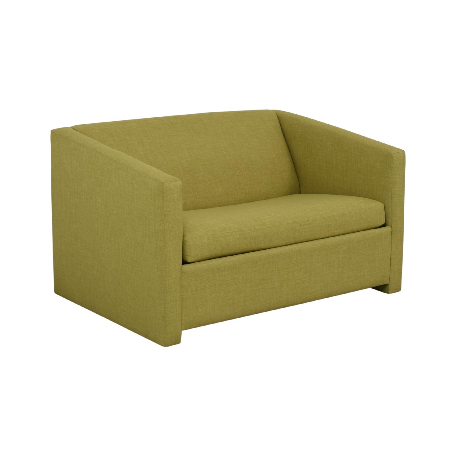 CB2 CB2 Lime Green Loveseat with Pullout Bed discount