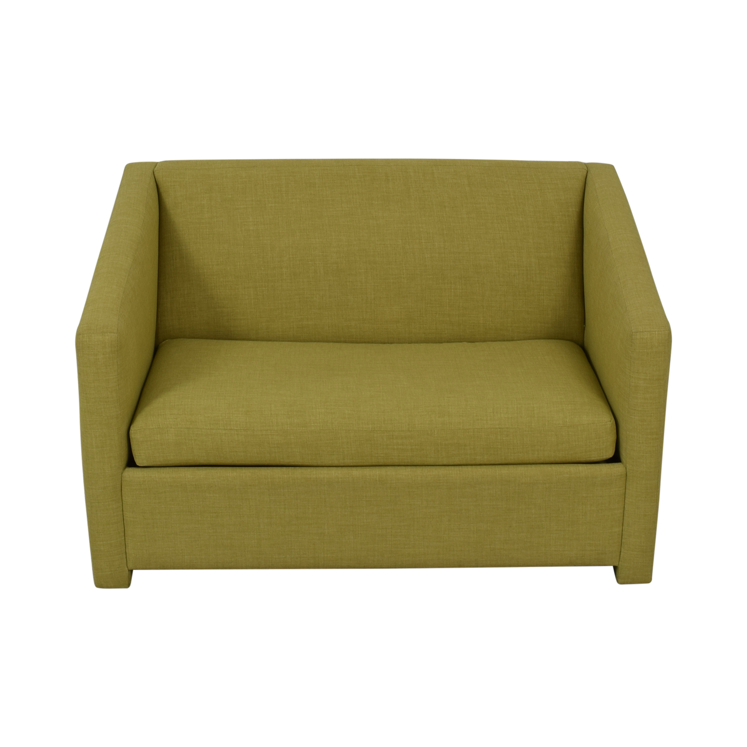 CB2 Lime Green Loveseat with Pullout Bed CB2