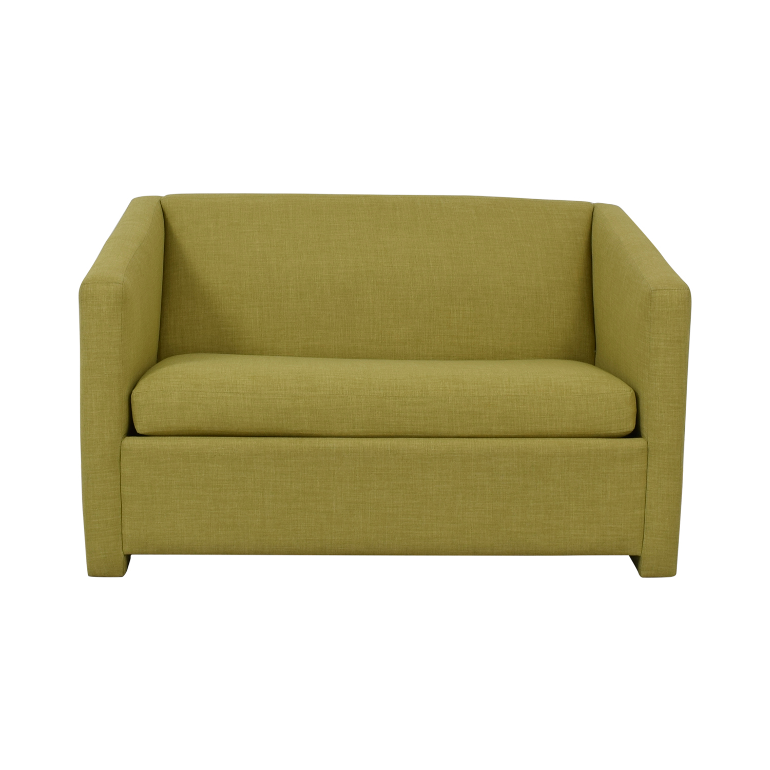 72% OFF - CB2 CB2 Lime Green Loveseat with Pullout Bed / Sofas
