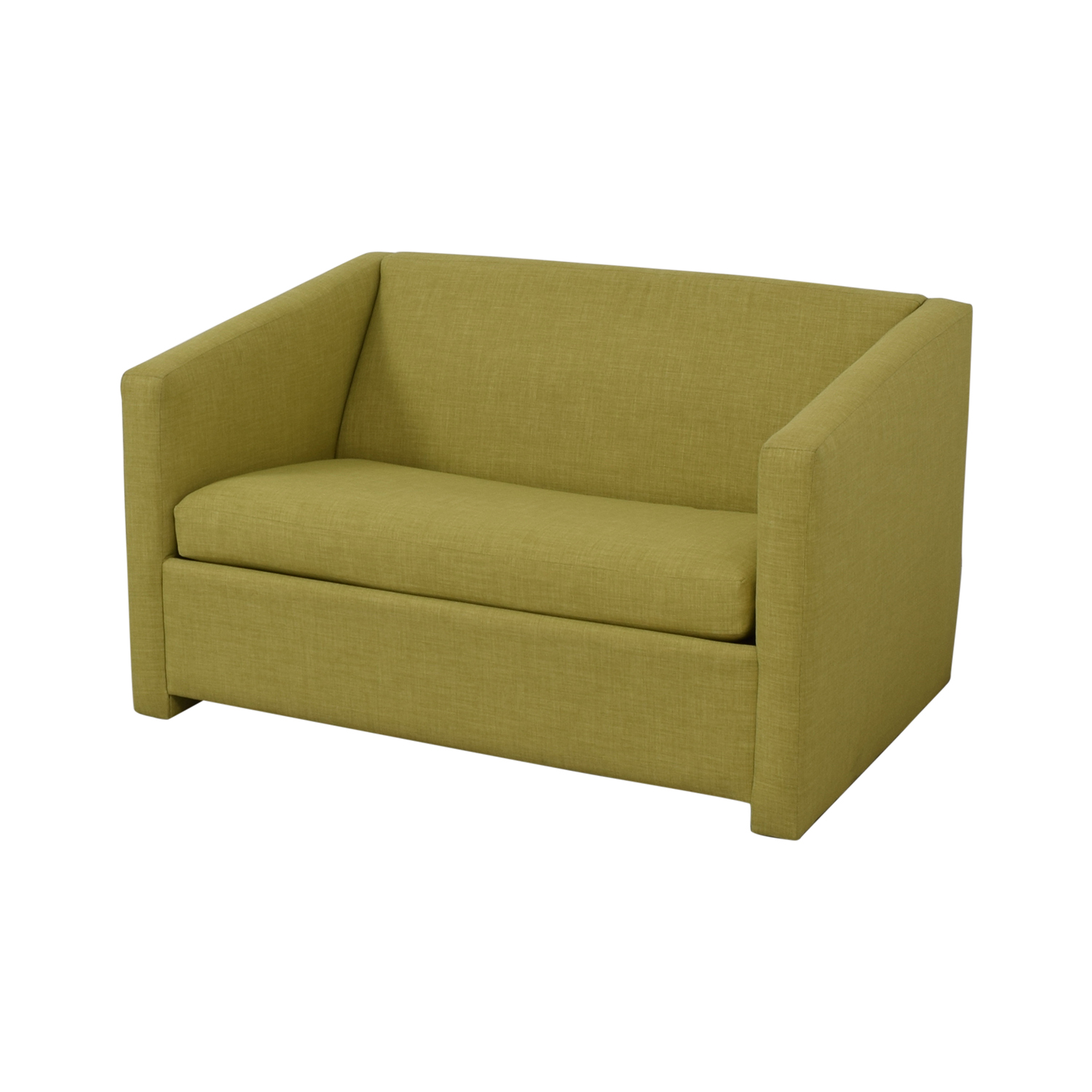 CB2 CB2 Lime Green Loveseat with Pullout Bed on sale