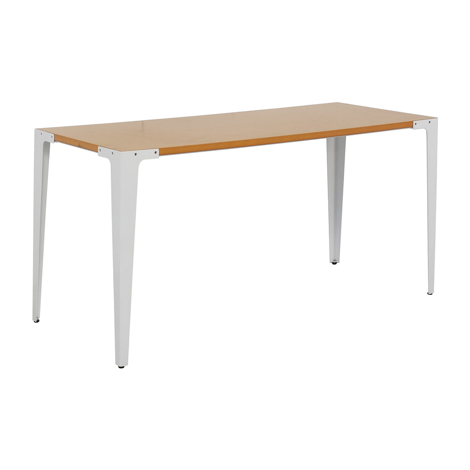 buy Crate & Barrel Crate &  Barrel Yellow and White Modern Desk online