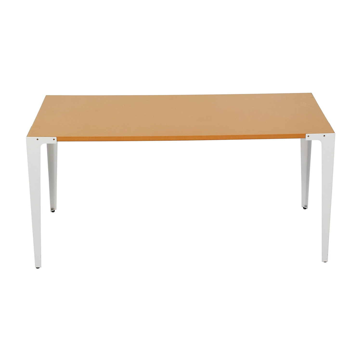 Crate & Barrel Crate &  Barrel Yellow and White Modern Desk Tables