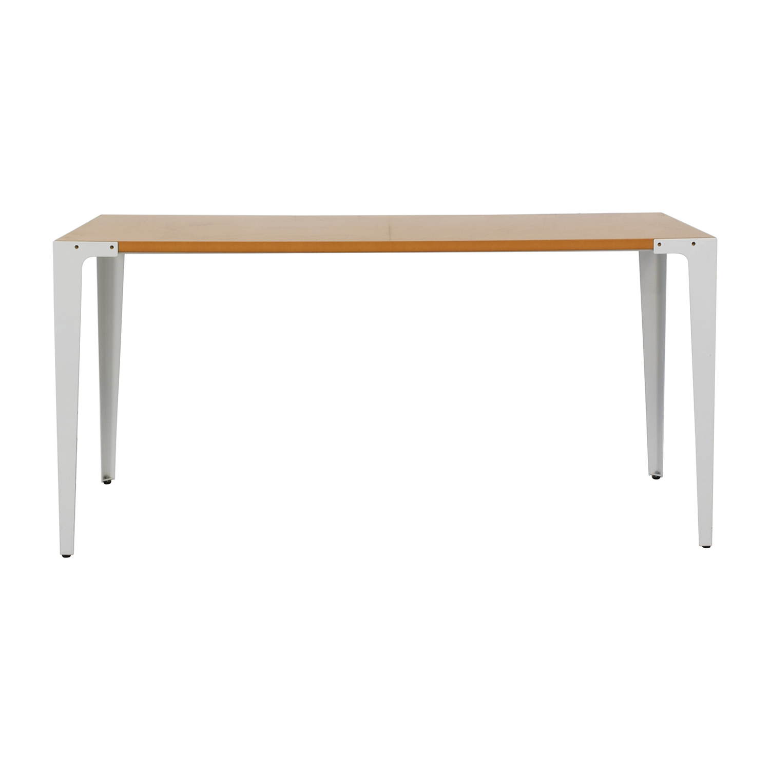 shop Crate &  Barrel Yellow and White Modern Desk Crate & Barrel Tables